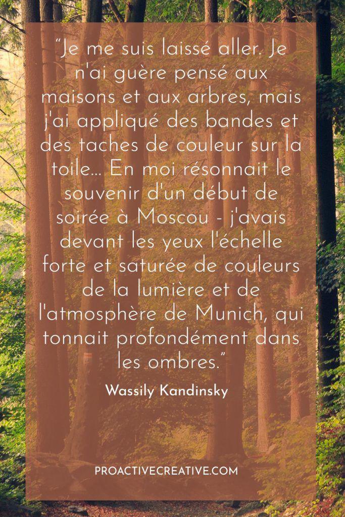 exemple de présentation d'un projet artistique Wassily Kandinsky