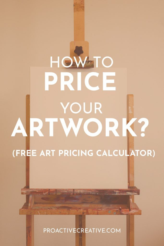 How to price your artwork, free art pricing calculator