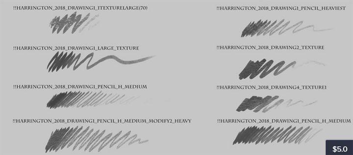 Photoshop Texture Pencil Brushes