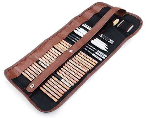 Arrtx 29 Pieces Professional Sketching & Drawing Art Tool Kit, fessional Artist Sketching Set