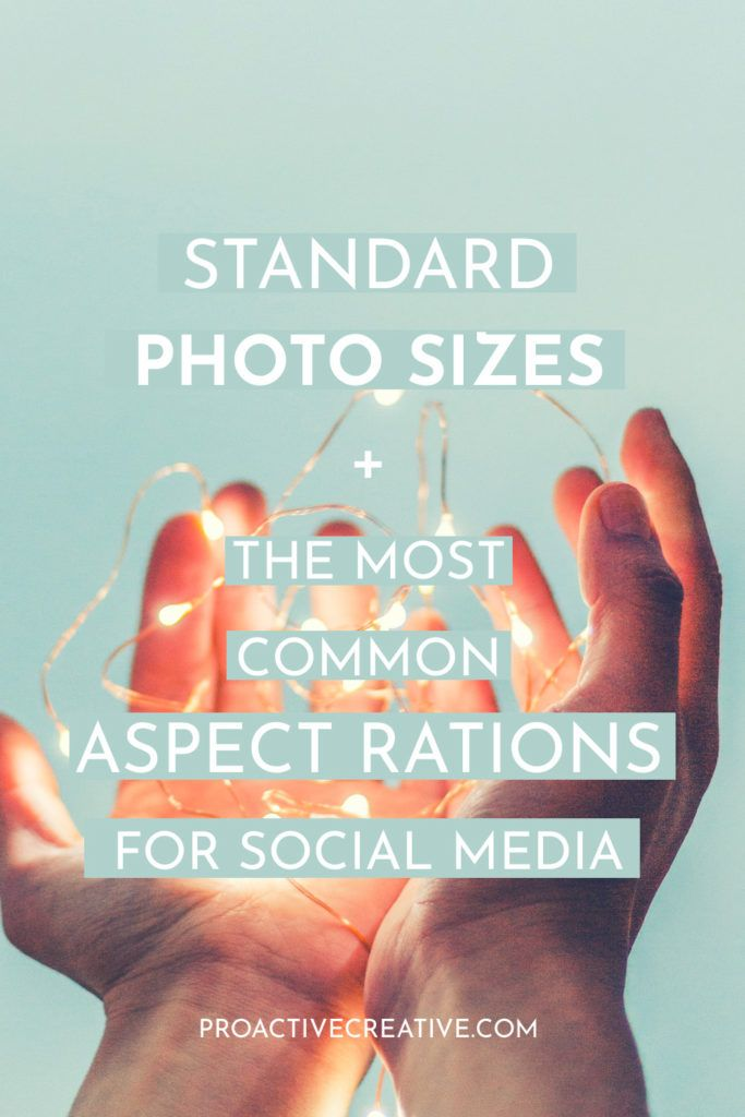 Standard photo size and aspect ratios