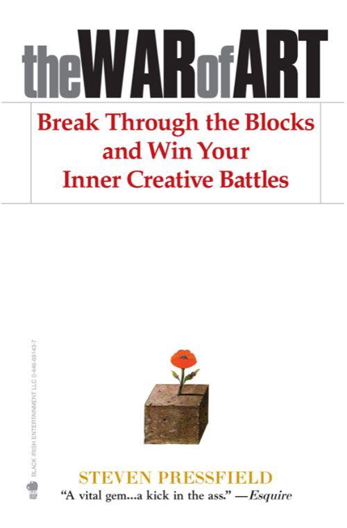 The War of Art de Steven Pressfield, meilleur livre pour artistes