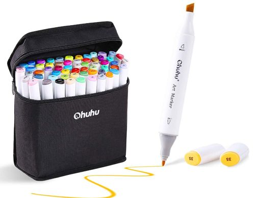 Ohuhu Alcohol Markers, Double Tipped. Best Affordable Dual Tipped Markers
