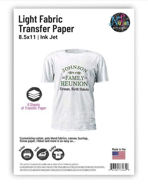 NuFun Activities Inkjet Printable Iron-On Heat Transfer Paper, best budget inkjet iron-on transfer paper