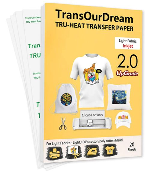 TransOurDream, Best Inkjet Transfer Paper for Light Fabrics