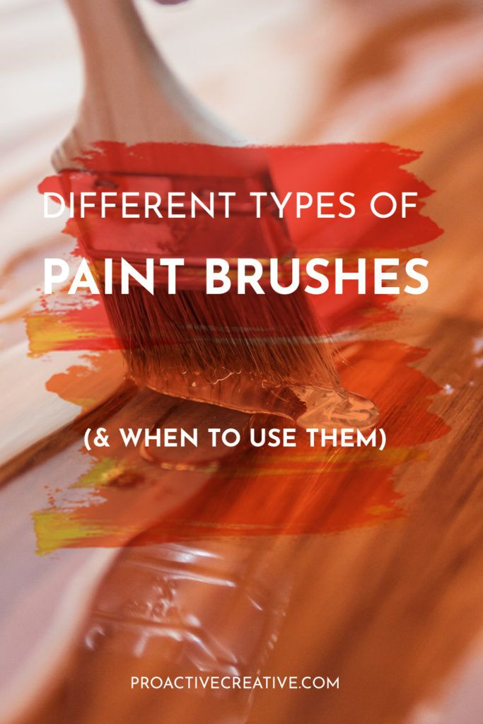 Different types of paint brushes pin