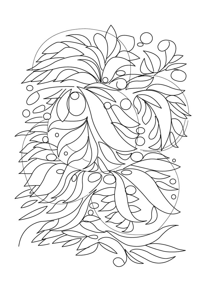 Free printable abstract coloring page
