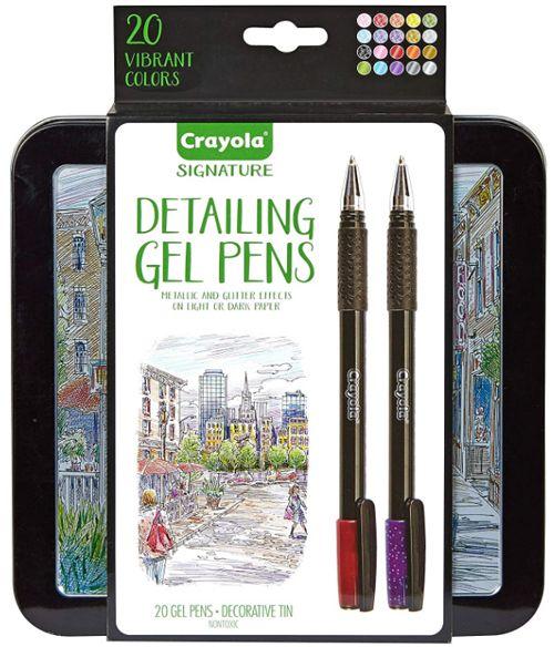 Best Minimalist Colored Gel Pen Set with Case, Crayola Signature Detailing Gen Pens
