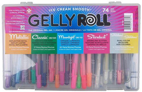 Best Colored Gel Pen Overall, Sakura 74-Piece Gelly Roll Gel Pen Set